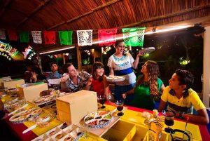 comida mexicana en el tour a xoximilco cancun