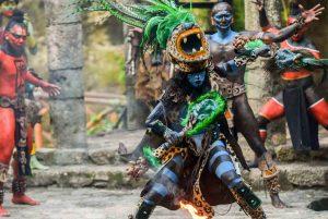 danzas prehispanicas en xcaret